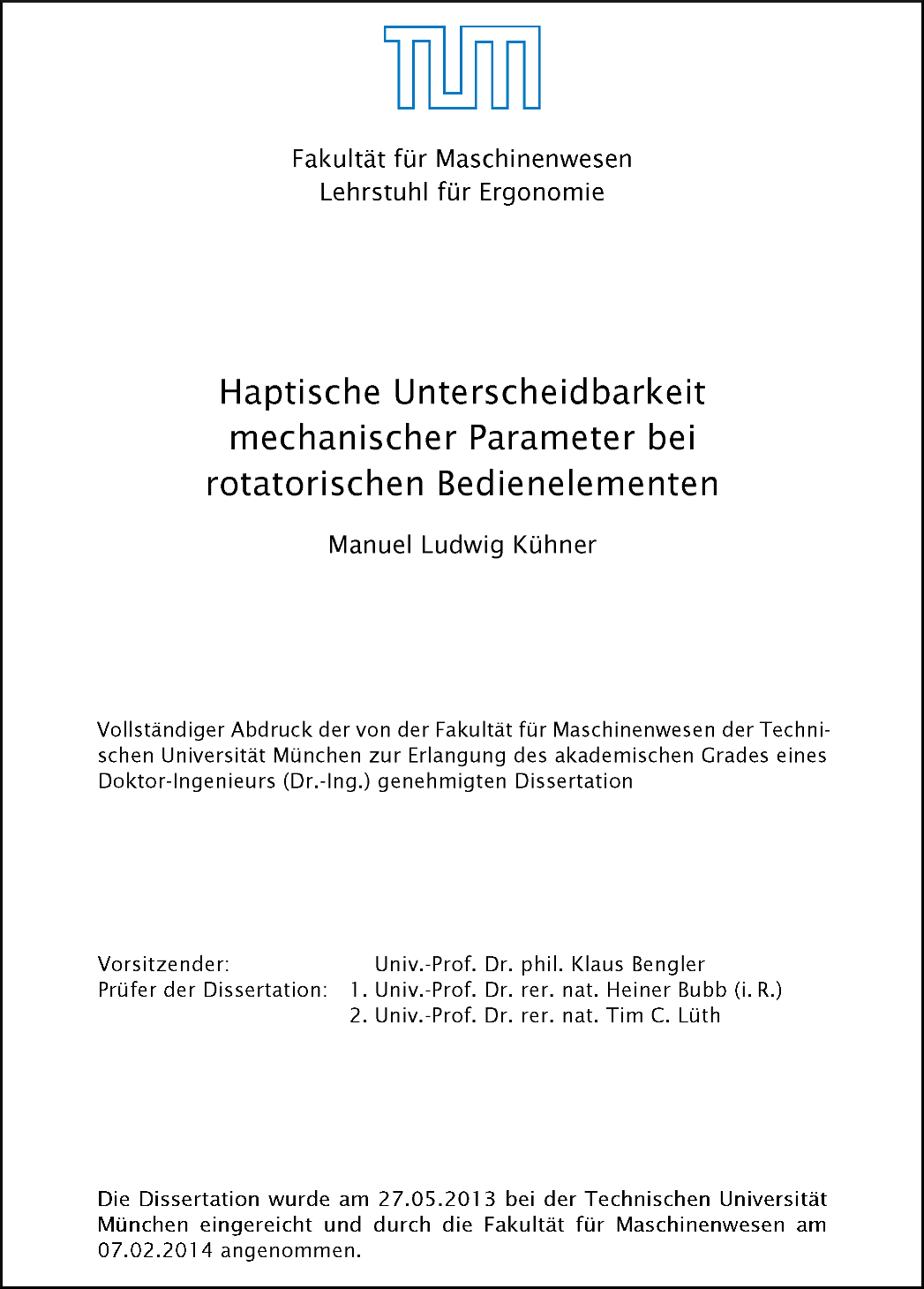 dissertation in thesis